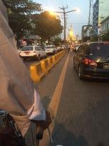 Fahrradtaxi zur Sule Pagoda